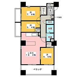 プライムメゾン御器所[2階]の間取り