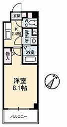 JRBハイツ湯田[A302号室]の間取り