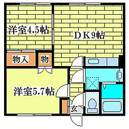 ベルアベニュー[3階]の間取り