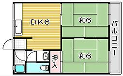 大阪府高槻市安満東の町の賃貸アパートの間取り