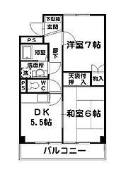 シャトレワン仲町台[4階]の間取り
