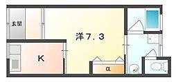 [一戸建] 大阪府門真市松葉町 の賃貸【/】の間取り