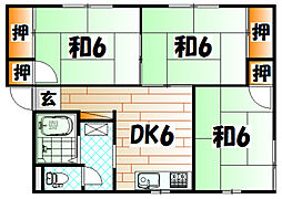 プレジール新津[1階]の間取り