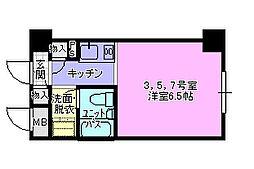 ドミトリー茅ヶ崎[205号室]の間取り