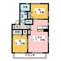 ウィステリア天白 B棟[1階]の間取り