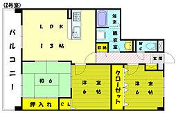プレステージ和白3[3階]の間取り