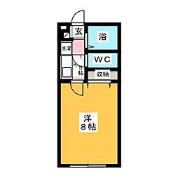 パルメゾン八軒[2階]の間取り