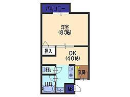 吉岡第3ビル[401号室]の間取り