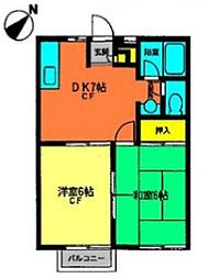 HASHIMOTOアパート[102号室]の間取り