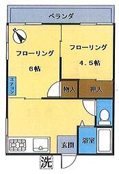 コーポ岩崎[206号室号室]の間取り