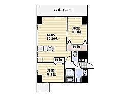エスズイン日蒔野[4階]の間取り