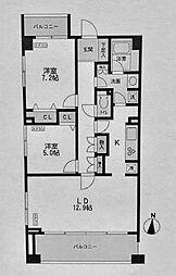 CASSIA横濱ガーデン山[407号室]の間取り