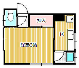 新潟県新潟市中央区万代6丁目の賃貸アパートの間取り