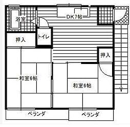 ドエル吉野[2階号室]の間取り