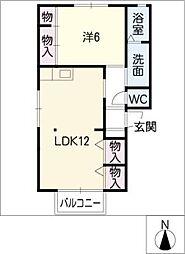 スインセラティA棟[1階]の間取り