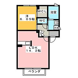 プロヌーブ芦原[2階]の間取り