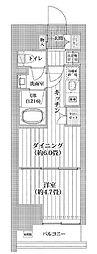都営新宿線 菊川駅 徒歩11分の賃貸マンション 3階1DKの間取り