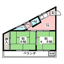 シャトレ巾[2階]の間取り