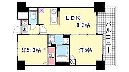 エステムプラザ神戸西4インフィニティ[411号室]の間取り