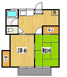 茨城県日立市末広町5の賃貸アパートの間取り