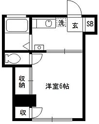 東京都新宿区百人町1丁目の賃貸マンションの間取り