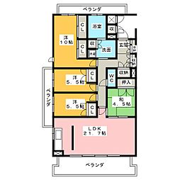 プライムメゾン富士見台[1階]の間取り