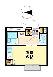 兵庫県姫路市南畝町1丁目の賃貸アパートの間取り