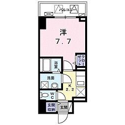 JR山陽本線 福山駅 徒歩8分の賃貸マンション 5階1Kの間取り
