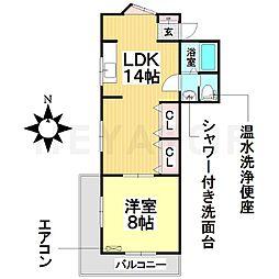 愛知県名古屋市南区菊住2丁目の賃貸マンションの間取り