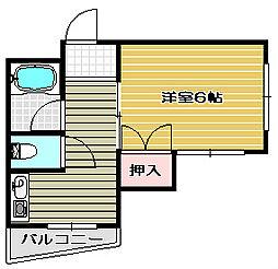 大阪府高槻市富田町4丁目の賃貸マンションの間取り