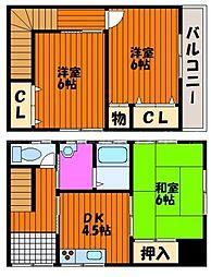 [タウンハウス] 香川県高松市三条町 の賃貸【/】の間取り