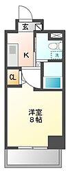 エステムプラザ名古屋・栄プレミアム[10階]の間取り