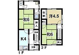 [一戸建] 奈良県奈良市若葉台4丁目 の賃貸【奈良県 / 奈良市】の間取り