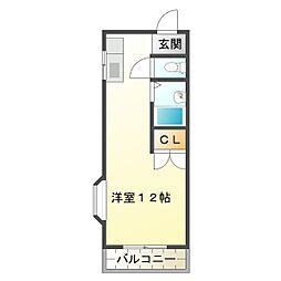 三重県鈴鹿市西条7丁目の賃貸アパートの間取り