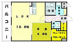 オータムレーベン2[4階]の間取り