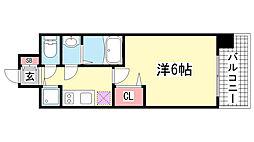 ララプレイス神戸西元町[8階]の間取り