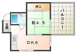 セントレケイ[4階]の間取り