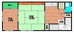 野村ビル[4階]の間取り