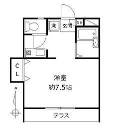 東京都世田谷区桜丘5丁目の賃貸アパートの間取り