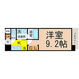 愛知県名古屋市中村区名駅南5丁目の賃貸マンションの間取り