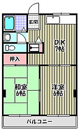 ハイツ井上[2階]の間取り