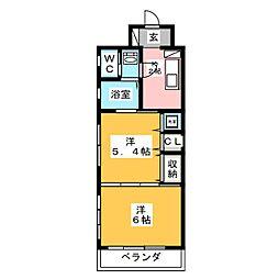 ASOKAビル[4階]の間取り