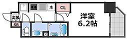 プレサンス長堀通グレイタス 8階1Kの間取り