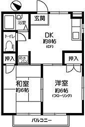 サマックスOHSAWA[201号室]の間取り