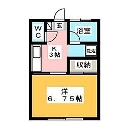 高橋アパート[1階]の間取り