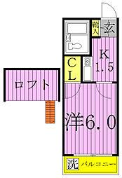 シンセイ1号・2号[2-206号室]の間取り