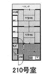 辻本コーポ[210号室]の間取り