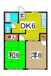 ファインハウスカミキI[1階]の間取り
