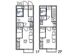 レオパレスルミエール[2階]の間取り