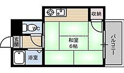 第三ササイマンション[2階]の間取り